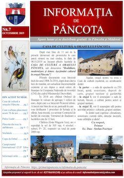 Informația de Pancota - ediția 7 - octombrie 2019