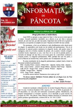 Informația de Pâncota -ediția decembrie 2020